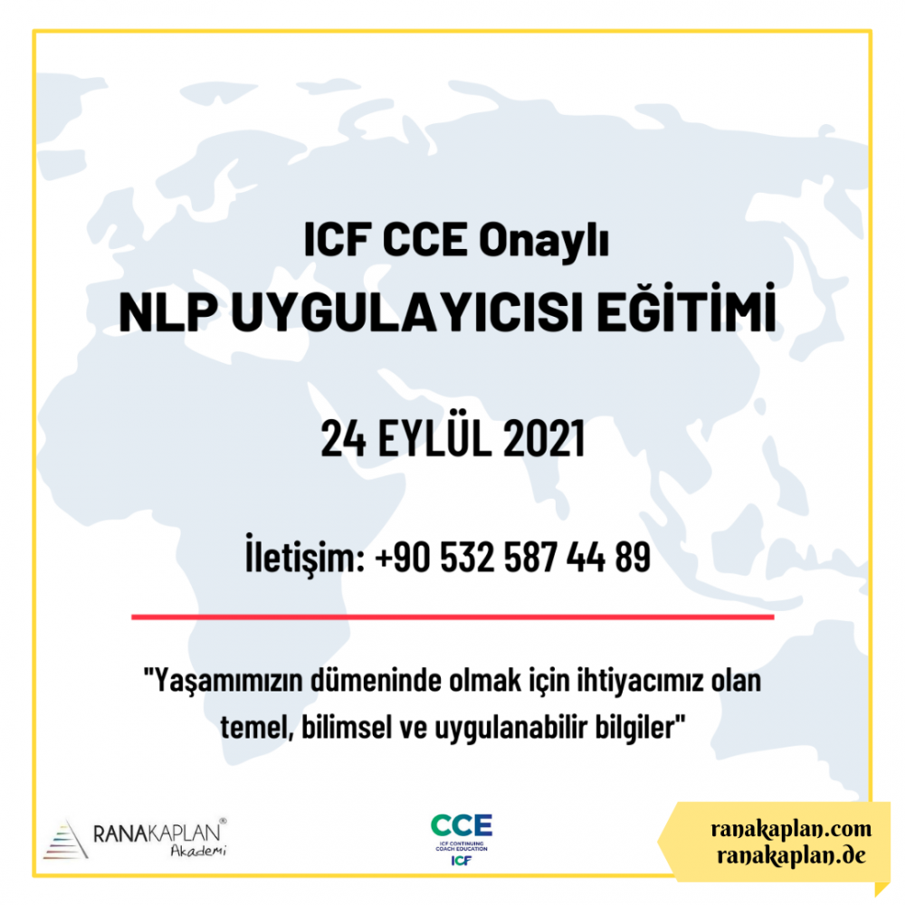 ICF CCE ONAYLI NLP UYGULAYICISI EĞİTİMİ