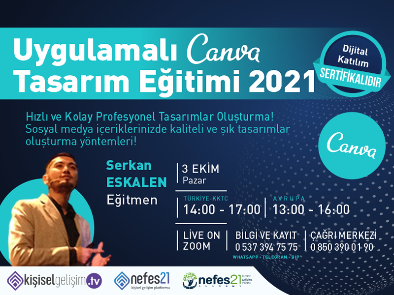 Uygulamalı Canva Tasarım Eğitimi 2021